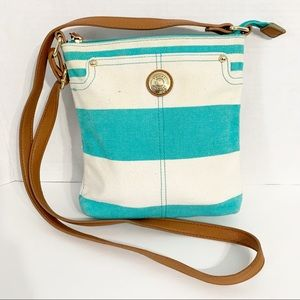 Tommy Hilfiger Striped Canvas Crossbody Bag